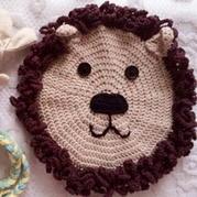 宝宝玩具 钩针编织狮子飞盘