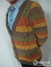 复古性感粗犷棒针编织男士毛衣