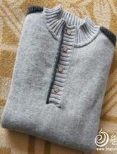 甜蜜编织 编织男士开领毛衣详细记录