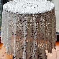 精美钩针编织20支花蕾丝桌布