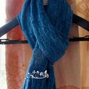 简单大方LV毛蕾丝棒针编织围巾
