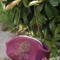 15cm大玫瑰钩针编织珠包