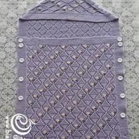 荷藕襁褓 棒针编织婴儿抱毯