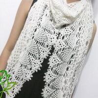 雪颜 钩针编织羊绒围巾
