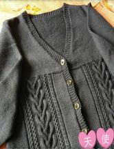 羊毛48支10股男士棒针编织毛衣