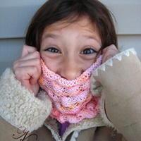泡泡梦棒针编织玉米线女童围脖