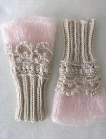 高贵公主钩织结合腕套