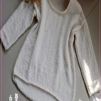 简约休闲棒针编织圈圈羊绒衣
