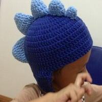 仿国外网站钩针编织恐龙儿童帽