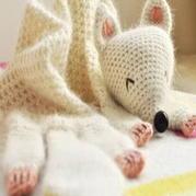 超萌狐狸儿童钩针编织小围巾