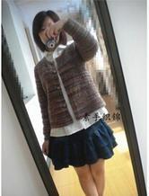 春秋棒针编织段染女士实用开衫