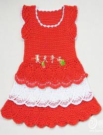 粉萝钩针编织公主裙详细过程