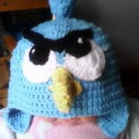 超萌钩针编织愤怒的小鸟儿童帽