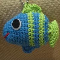 一条小鱼游来了 钩针编织玩偶