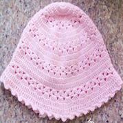 云棉线钩针编织儿童帽子