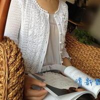 雅致钩针编织蕾丝开衫