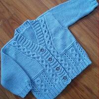 1-2岁棒针编织男女童通用款开衫