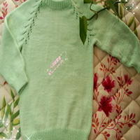 云棉绿芽棒针编织婴幼儿套头衫