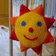 婴儿玩具之钩针编织太阳挂物