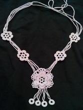 唯美爱尔兰钩针编织项链