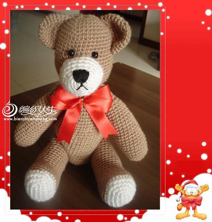 圣诞泰迪Teddy熊钩编玩偶图解教程