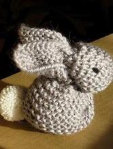 极简织片巧妙缝合变萌兔 棒针玩偶兔子