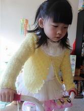女童钩针编织马海小开衫