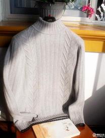 扬帆男士拉链领中高领棒针毛衣