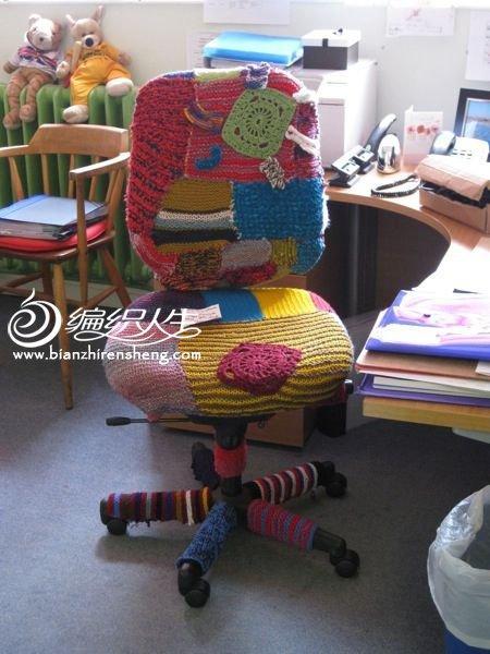 形形色色毛线椅 或为居家美饰或为毛线轰