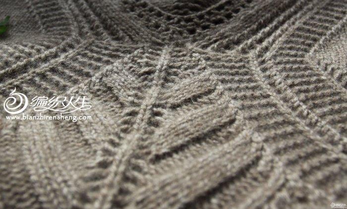 叶子花开 棒针编织女士典雅秋装毛衣    第一次看到这款衣服是在轻描