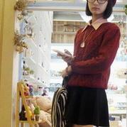 俏皮时尚棒针立体花型女士毛衣