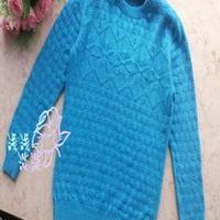 大男孩棒针编织圆领羊绒毛衣