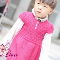 2-3岁棒针编织小可爱背心裙