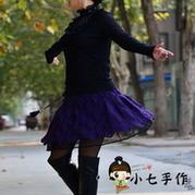 百变雀羽之钩针编织短裙