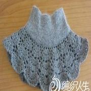 织物改造漂亮实用钩织结合假领