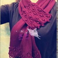 紫豆 仿欧美款穿插式围巾教程