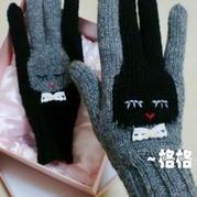 萌物编织 棒针编织小白兔手套