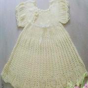 婴幼儿丝带花朵钩针编织公主裙