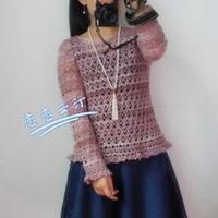 金丝羊毛优雅钩针编织套头衣