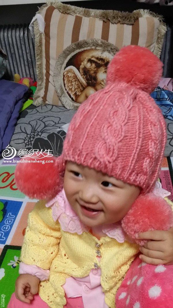 宝宝护耳帽编织视频_绒球麻花棒针编织宝宝护耳帽-编织教程-编织人生