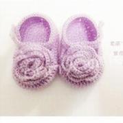 婴儿花朵钩针编织宝宝鞋