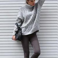 16种高领毛衣时髦穿搭示范