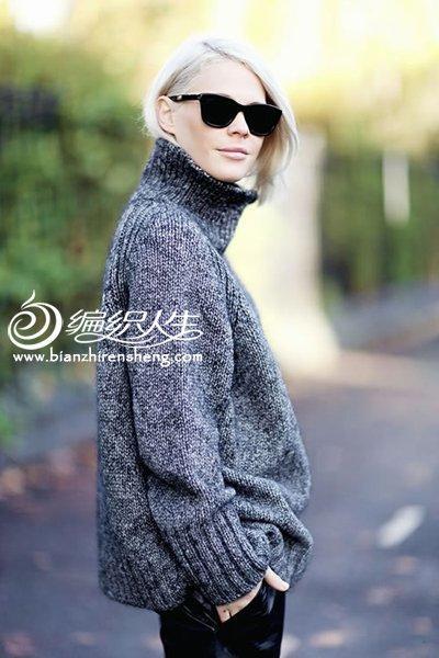 女士高领毛衣