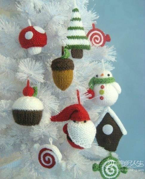 手工编织圣诞节装饰物 编织人生移动门户图片