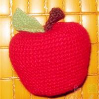 趣味编红苹果钩针编织文字教程
