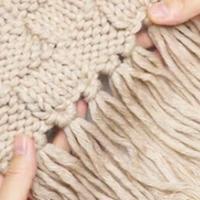 格子流蘇圍巾編織教程 零基礎學織圍巾