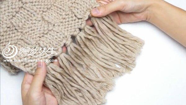 教你织围巾视频教程