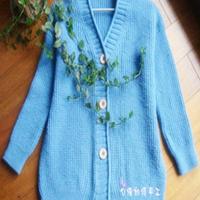 青年男士休闲棒针编织毛衣外套