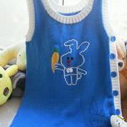 背心式系扣棒针编织宝宝睡袋