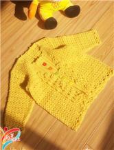 钩针编织兔绒小开衫